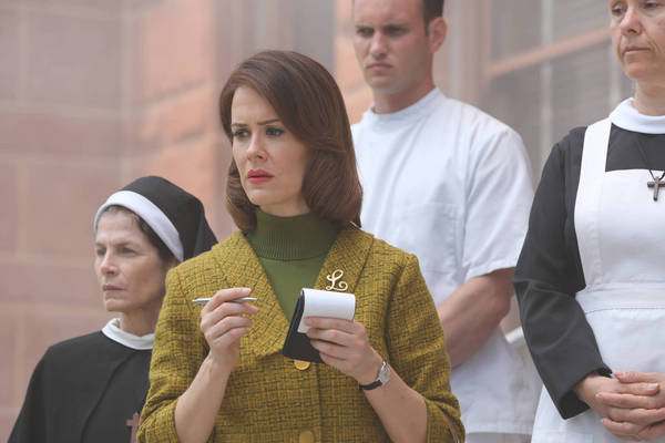 "Sarah Paulson, before being committed to the ""Asylum."""