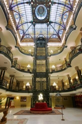 "Located in the center of Mexico City, the interior of this historic hotel was featured in ""License to Kill"" in which Timothy Dalton played Bond. In addition to its Art Nouveau Louis XV style, the hotel boasts a Tiffany stained-glass ceiling designed by French artisan Jacques Gruber."