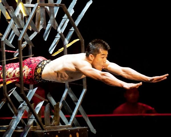 "The Shaolin Warriors of China are the public face of qigong, that uber-disciplined form of exercise that makes the rest of us feel like the rough equivalent of the strawberry jelly sloshing around inside a Dunkin' Donut.  Their feats at the Ringling Bros. and Barnum & Bailey Circus will blow you away. These gentlemen not only bend steel with their necks and chopped oak with their skulls but, in one truly heart-stopping moment, one of these terrifying brothers dives through a spinning octagon outfitted with sword blades and filled with flame. It's quite something. As annual editions of the Greatest Show on Earth go, ""Dragons"" is easily in the top two or three productions, mostly because it comes with a far sharper edge. -- Chris Jones <br><br><b> Through Sunday at Allstate Arena in Rosemont; Nov. 14-25 at the United Center; $13-$60 at ringling.com or ticketmaster.com</b>"