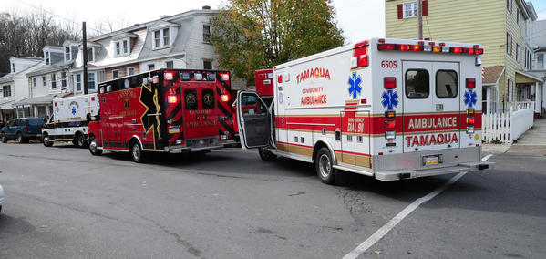 As many as eight people were lexposed to high levels of carbon monoxide Wednesday morning in three structures on West Broad St.