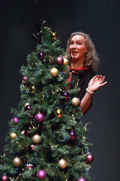 "David E. Frank in ""The Bald Soprano: A Christmas Anti-Play"" at City Garage in Santa Monica"