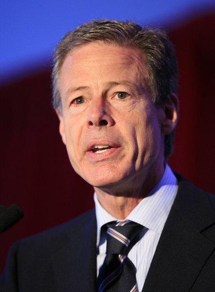 Jeff Bewkes, chairman and CEO of Time Warner, speaks at Time Warner's headquarters Monday, June 15, 2009 in New York.