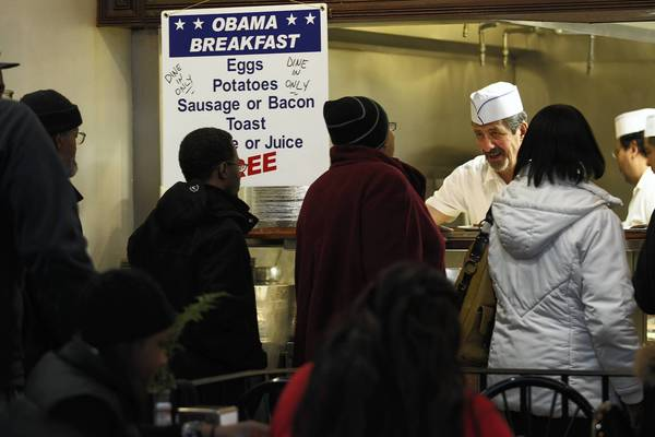 Orders are taken at Valois Cafeteria on 53rd street in the Hyde Park neighborhood of Chicago.