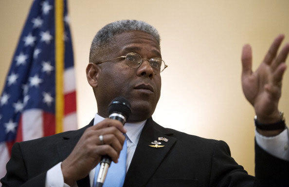 Rep. Allen West, R-Fla., of Florida¿s 18th District, speaks to a meeting of the Independent Insurance Agents of Palm Beach County, in West Palm Beach, Fla.