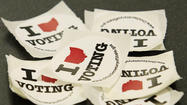 Election stickers from around the U.S.