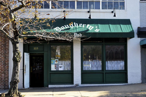 "Attracting patrons from the neighborhood and the nearby colleges, Dougherty's Pub has 15 beers on draft and the typical happy hour specials patrons have come to expect in Baltimore. But it also has character and heart, which can be seen on the wall filled with works from local artists, free of charge.<br> <br> • Bar info: <a href=""http://findlocal.baltimoresun.com/listings/doughertys-irish-pub-baltimore"">Dougherty's Pub</a>, 223 W. Chase St., 410-752-4059, <a href=""http://www.doughertyspub.com"" target=""new""> doughertyspub.com </a>"