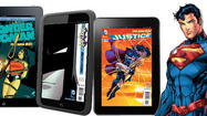 "In a move that could provide a boost to the small but growing digital comic book business, DC Comics has signed deals to sell comics through online stores owned by Apple, <a id=""ORCRP000672"" class=""taxInlineTagLink"" title=""Amazon.com Inc."" href=""http://www.latimes.com/topic/economy-business-finance/amazon.com-inc.-ORCRP000672.topic"">Amazon</a> and Barnes & Noble."