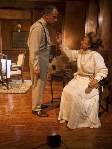"Patrick Blashill and Susan Monts-Bologna in ""Long Days Journey into Night."""