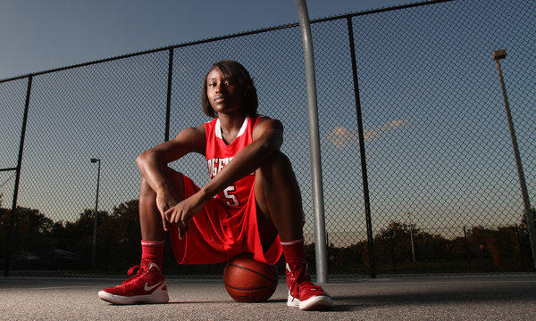 Trimaine McCullough of Edgewater High School's girls basketball team at Edgewater High School in Orlando, Fla.