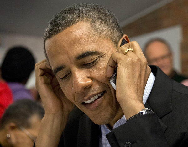 President Obama, seen Monday, called congressional leaders Wednesday after his reelection to get a jump on dealing with the so-called fiscal cliff.