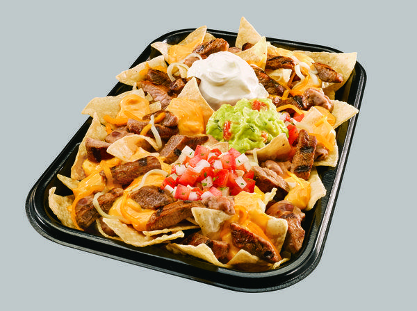 Irvine-based Taco Bell says its new XXL Steak Nachos are 'restaurant-sized nachos.'