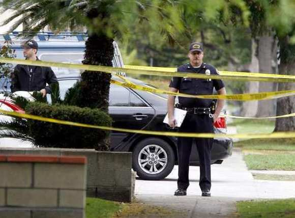 Burbank police investigates the death in the 700 block of E. Providencia on Friday morning, Oct. 12, 2012.