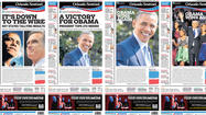 Breaking news changed Obama reelection front pages on deadline