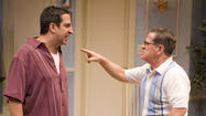 Marc Grapey is the messy Oscar and Tim Kazurinsky is the buttoned-up Felix in ¿The Odd Couple¿ at Northlight Theatre.