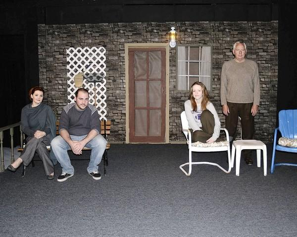 "The cast of ""Proof,"" from left, Tiffany Berg as Claire, Anthony Galleran as Hal, Tara Golson as Catherine and John Parker as Robert."