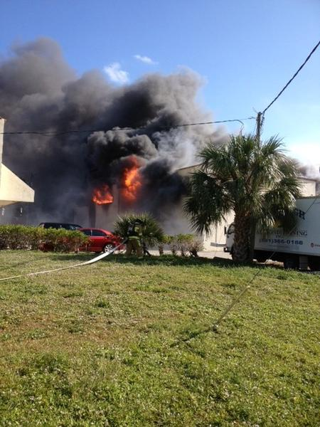 Five employees escape the flames in a stubborn commercial fire at Craftline Cabinetry in Boca Raton