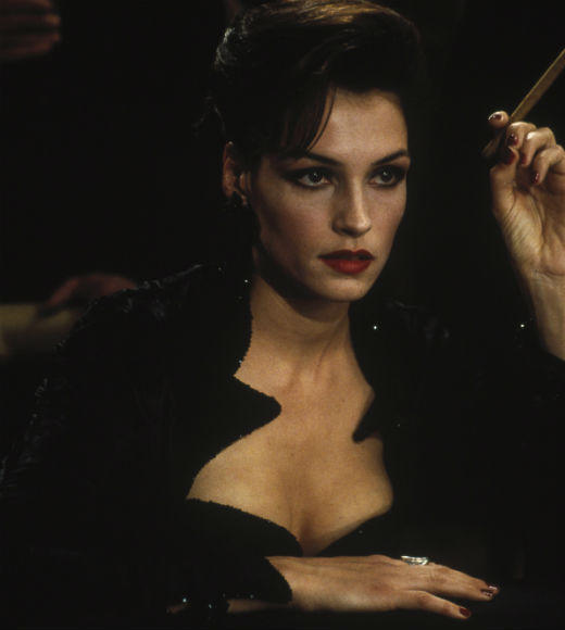 From Honey Ryder to Strawberry Fields: The ultimate guide to Bond girls: The movie: GoldenEye The actress: Famke Janssen Character type: Lust-driven sex killer Cringeworthy name factor: High Good or evil?: Evil Ultimate fate: Battered and strangled by trees when the helicopter shes abseiling from goes out of control Distressed damsel or Bond-worthy badass?: She kills men with her thighs. Badass.