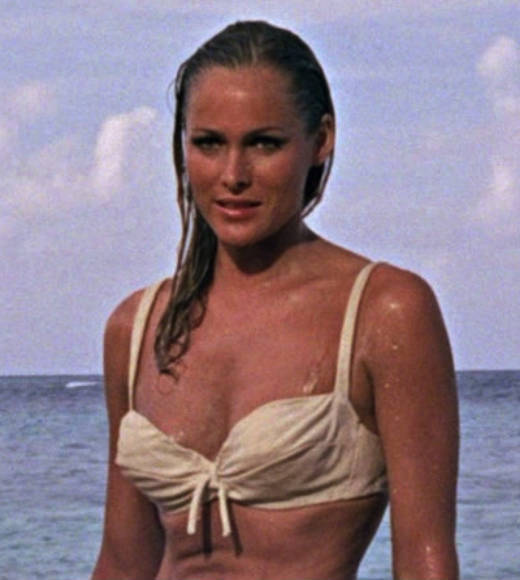 From Honey Ryder to Strawberry Fields: The ultimate guide to Bond girls: The movie: Dr. No  The actress: Ursula Andress  Character type: Naive bombshell  Cringeworthy name factor: Moderate  Good or evil?: Good  Ultimate fate: Escape from exploding island with Bond  Distressed damsel or Bond-worthy badass?: Damsel. Yes, shes carrying a knife, but she needs to be protected and saved, instead of saving others.