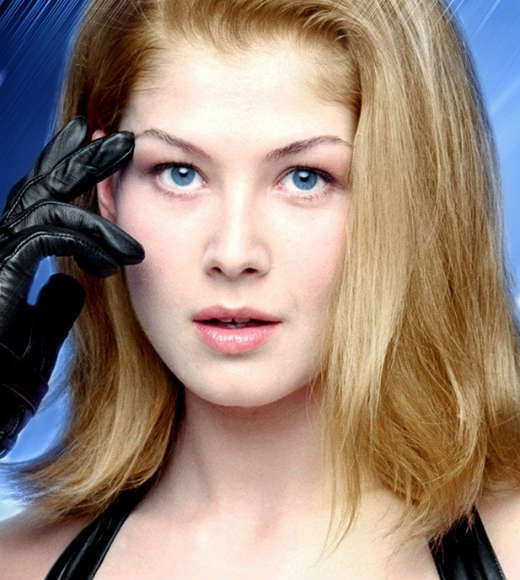 "<b>The movie:</b> ""Die Another Day""<br> <b>The actress:</b> Rosamund Pike<br> <b>Character type:</b> Double-agent<br> <b>Cringeworthy name factor:</b> Low<br> <b>Good or evil?:</b> Good girl gone bad<br> <b>Ultimate fate:</b> Killed by Jinx in a sword fight<br> <b>Distressed damsel or Bond-worthy badass?</b>: She's an MI6 agent and an Olympic Gold Medalist in fencing... but an untrained NSA agent can kill her with a blade? Badass FAIL."