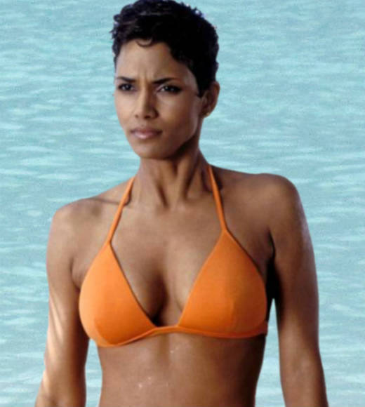 "<b>The movie:</b> ""Die Another Day""<br> <b>The actress:</b> Halle Berry<br> <b>Character type:</b> NSA agent<br> <b>Cringeworthy name factor:</b> Low<br> <b>Good or evil?:</b> Good<br> <b>Ultimate fate:</b> Ensconced with Bond in a helicopter full of diamonds as a plane disintegrates around them. <br> <b>Distressed damsel or Bond-worthy badass?</b>: Badass. She battles Bond when she first meets him, and kills Frost in a sword fight."
