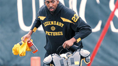 Pittsburgh Steelers cornerback Keenan Lewis prepares for the NFL football team's practice in Pittsburgh on Wednesday.