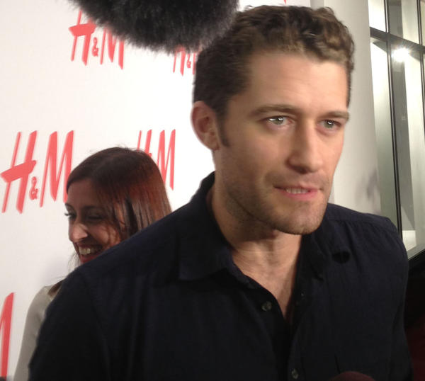 "Matthew Morrison from ""Glee"" attended the opening night celebration at H&M on Lincoln Road."