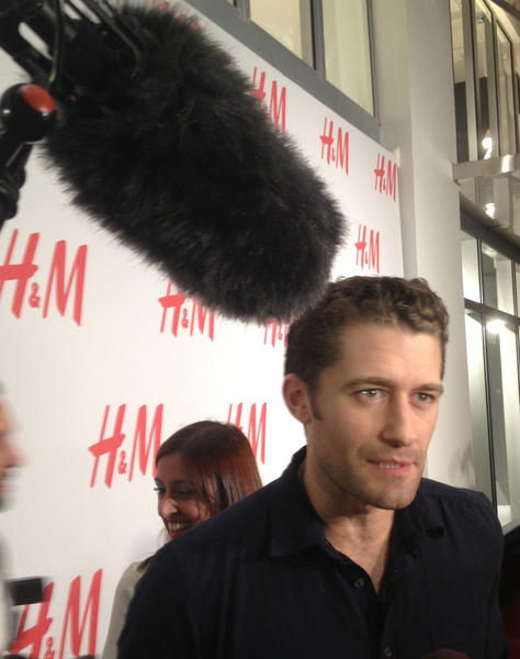 """Glee"" hunk Matthew Morrison walked the red carpet with his bud Chace Crawford."