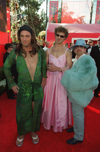 "Not to be outdone, at the 72nd Academy Awards in 2000, ""Book of Mormon"" creators Matt Stone and Trey Parker strode down the red carpet dressed as Jennifer Lopez and Gwyneth Paltrow. Their song ""Blame Canada"" from ""South Park: Bigger, Longer & Uncut"" was nominated for best original song."