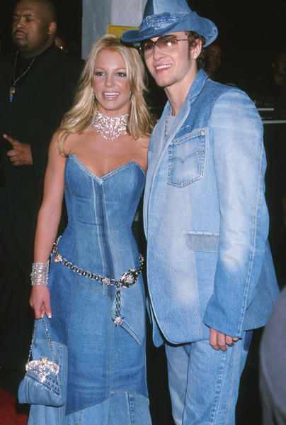 Take the Canadian Tuxedo to a new level... Former Mickey Mouse Club stars Britney Spears and Justin Timberlake became a denim duo at the 2001 American Music Awards with matching custom-made outfits.