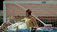 Newport Harbor High goalie Wyatt Muller made six saves in three periods against Servite.