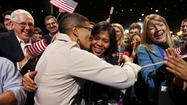 Amid the cheers of President Barack Obama's victory rally in Chicago, Keesha Patterson reached into her bag for a tiny box, dropped to one knee, turned to her girlfriend of 11 years and told her, in front of everyone, how much she loved her and wanted to marry her.