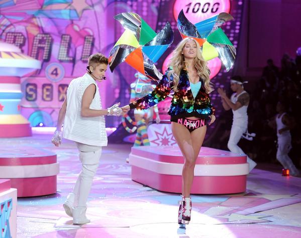 Singer Justin Bieber performs.