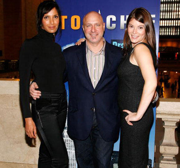 "From left, ""Top Chef"" host Padma Lakshmi, head judge Tom Colicchio and judge Gail Simmons."