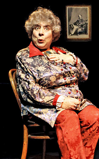 "British film and stage actress Miriam Margolyes in ""Dickens¿ Women,"""