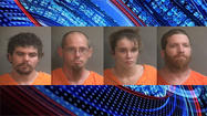 Police arrested four people at a motel after a three-month-long investigation into a possible meth operation.