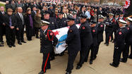 Casket carried to church