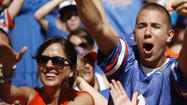 Pictures:  2012 Florida Gators fans, band and cheerleaders