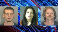 Police arrested three people in connection with recent bank robberies in Lafayette and Frankfort.