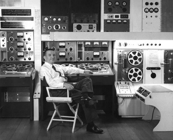 The music of Raymond Scott, shown in the studio in 1955, will be honored Friday at REDCAT.