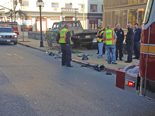 Authorities are on the scene of an accident on Summit Avenue in front of The Herald-Mail building.