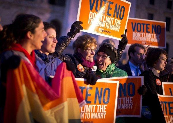 Minnesota voters rejected a Proposition 8-style ban on same-sex marriage
