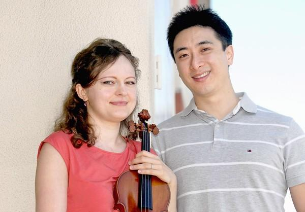 Violinist Iryna Krechkovsky and her husband, pianist Kevin Kwan Loucks, from Irvine, will be performing in an upcoming concert hosted by the Laguna Beach Music Festival.