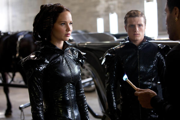 "Jennifer Lawrence and Josh Hutcherson star in ""The Hunger Games."" DVD sales of the film helped drive strong quarterly earnings for Lions Gate."