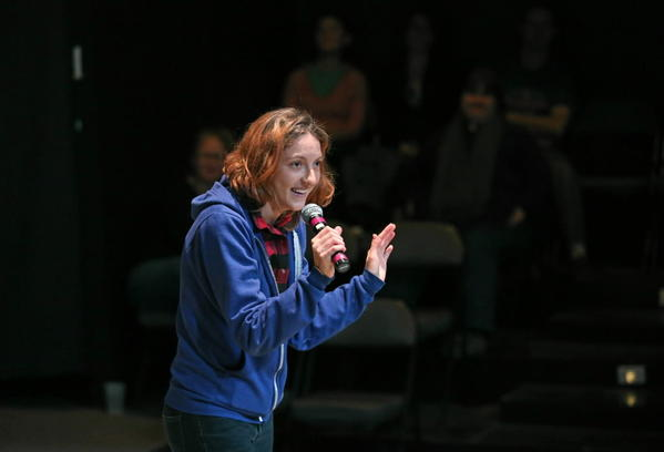 Here's The Story featured storyteller Caitlin Bergh at Stage 773 in Chicago.