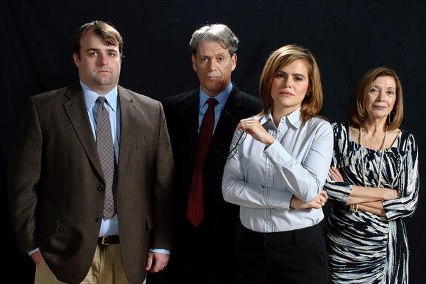 """From left, Jeff Sprague (as Vincent), Timothy Sayles (Matthew), Chelsea-Langley-Kolbe (Charlotte) and Millie Ferrara (Maryanne) star in Colonial Players production of """"Sunlight."""""""