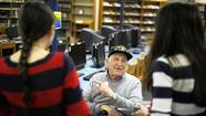 Students at <strong>Liberty High School</strong> greeted local veterans in the school media center on Thursday, Nov. 8, for a special Veterans Day celebration.