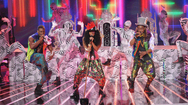 Lyric 145 performs live on 'The X Factor' on Fox.