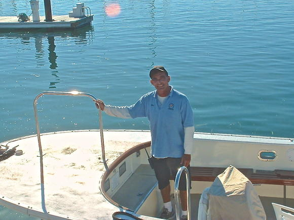 Ray Dasilva, the assistant dock master at the Balboa Yacht Club.