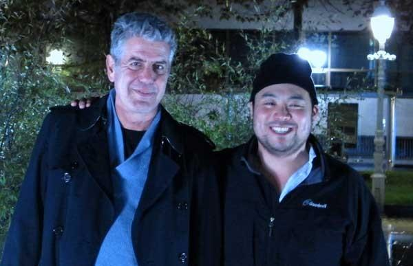 """The Mind of a Chef"" is a new travel/cooking show narrated by Anthony Bourdain, left, premiering with four episodes at 9, 9:30, 10 and 10:30 on KOCE. With Korean chef David Chang."