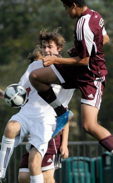 Shown in action as juniors last year, Boys' Latin senior Aaron Leeds and St. Paul's senior Gavin Norris met each other again Thursday afternoon for the final time and the Lakers' defeated the top-seeded hosts, 2-1 and advanced to the MIAA title game.